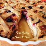Tarte rustique poires pommes & amandes – Rustic pie, applepear & almond