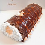 Bûche roulée chocolat orange & Cointreau – Rolled log orange chocolate & Cointreau