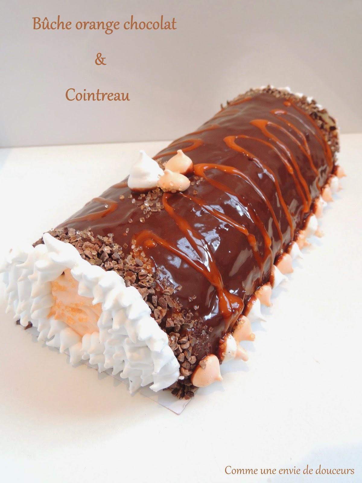 Bûche roulée chocolat orange & Cointreau – Rolled log orange chocolate & Cointreau
