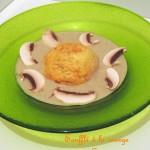 Soufflé à la courge musquée & crème de champignons – Butternut soufflé & mushroom velouté