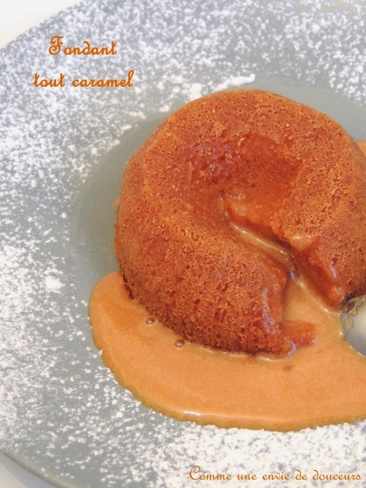 Sauce caramel & Fondant 100% caramel / Caramel sauce & Molten caramel Lava cake