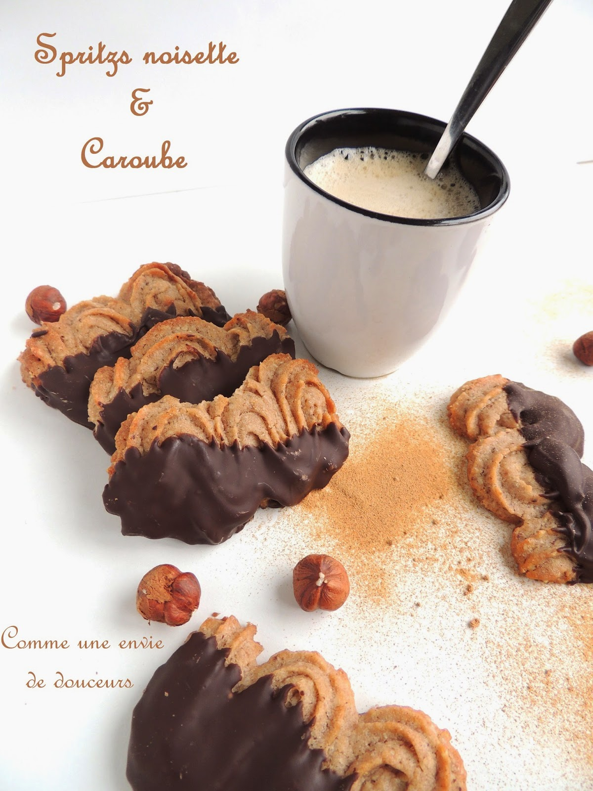 Spritzs noisette caroube – Hazelnut & carob spritzs