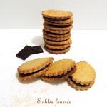 Biscuits sablés fourrés comme des Princes – Chocolate stuffed biscuits