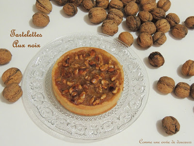 Tartelettes aux noix & sirop d'érable – Walnut and maple syrup  tartlets