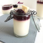 Panna cotta chocolat blanc et mûres – Blackberry and white chocolate panna cotta