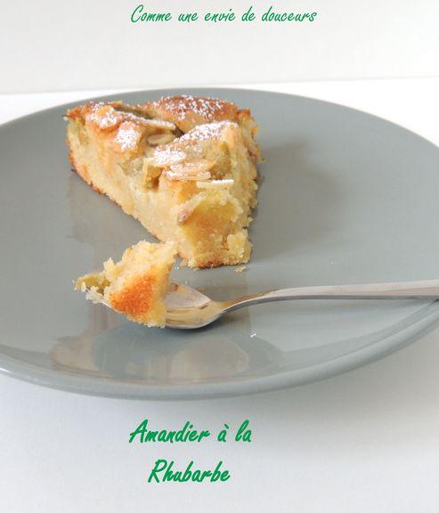 amandier la rhubarbe almond and rhubarbe cake comme une envie de douceur. Black Bedroom Furniture Sets. Home Design Ideas