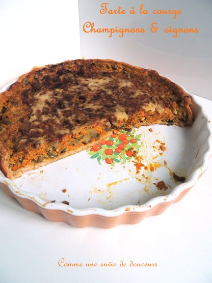 Tarte à la courge musquée & champignons / Butternut squash & mushrooms pie