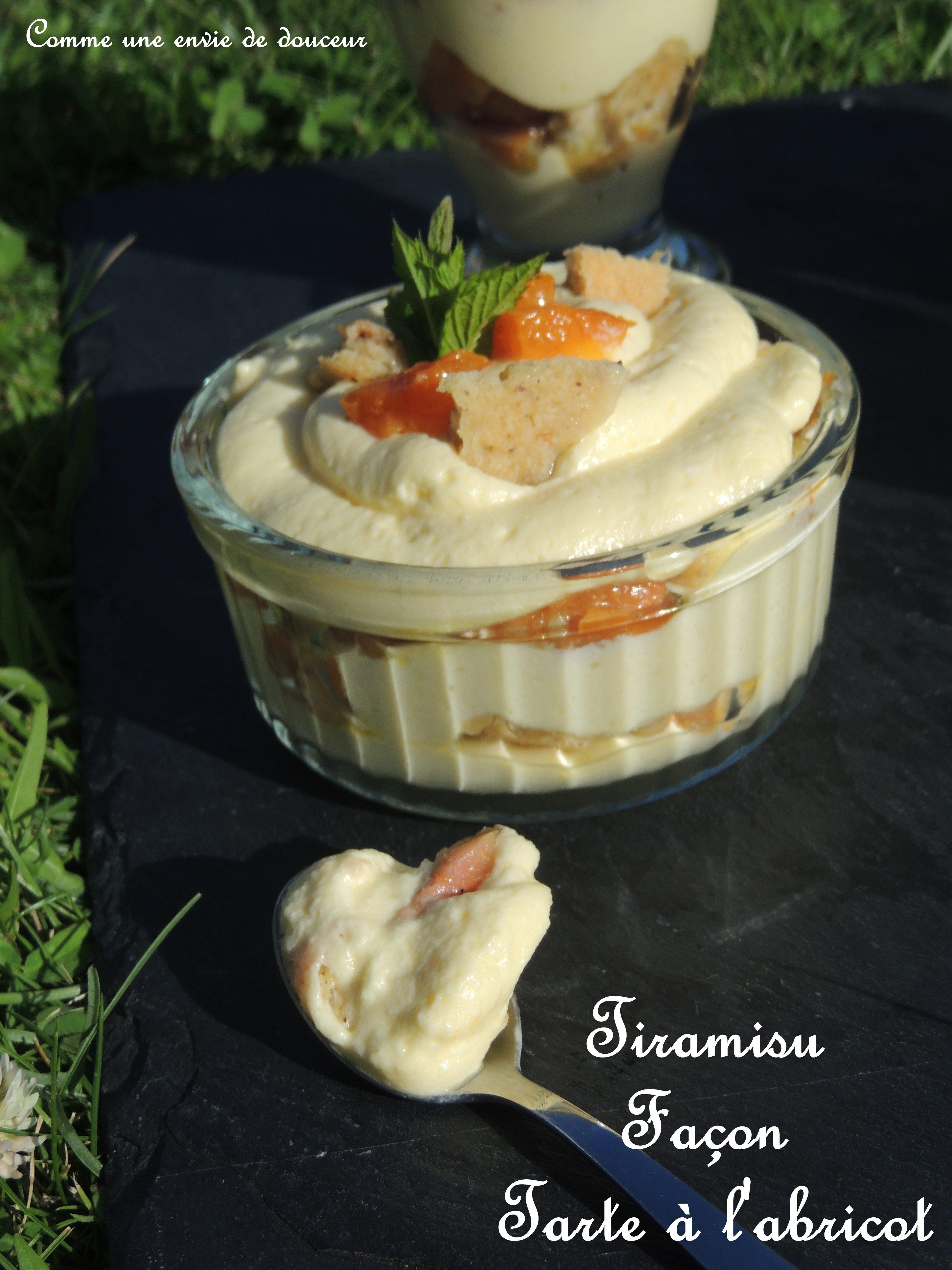 Tiramisu  Façon tarte à l'abricot