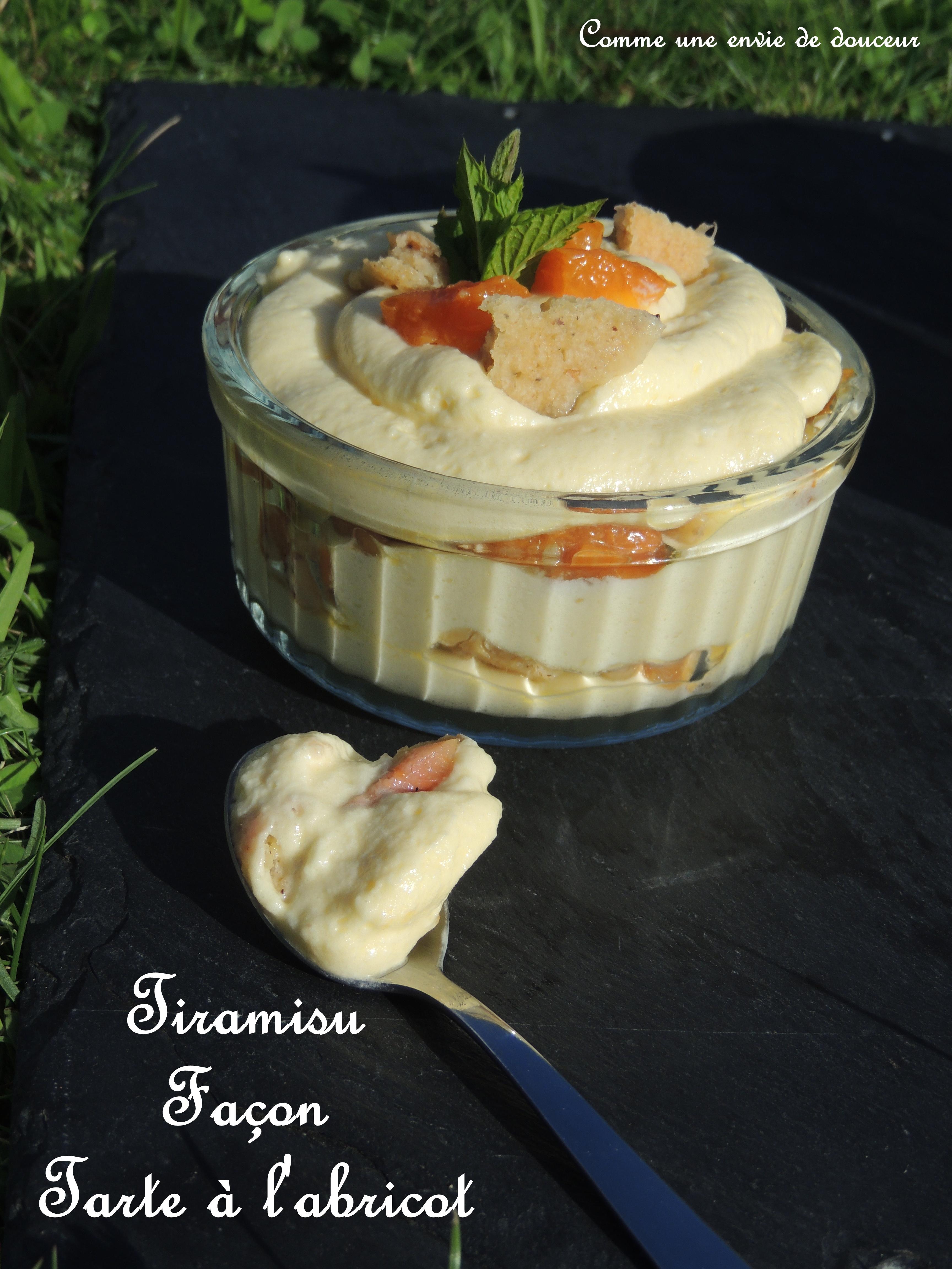 Tiramisu abricot rhubarbe – Apricot rhubarb tiramisu
