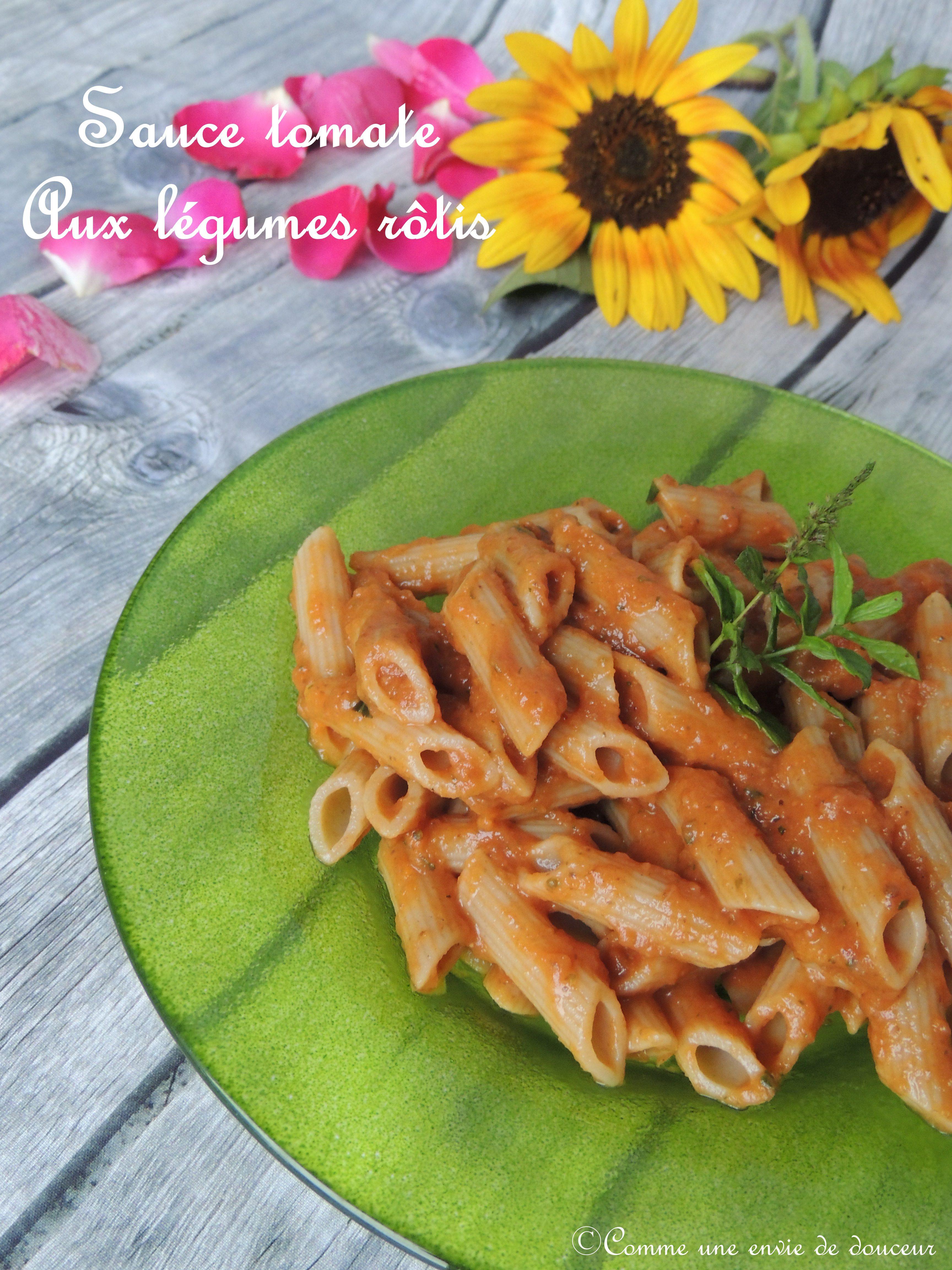 Sauce tomate aux légumes rôtis – Roasted veggies tomato sauce