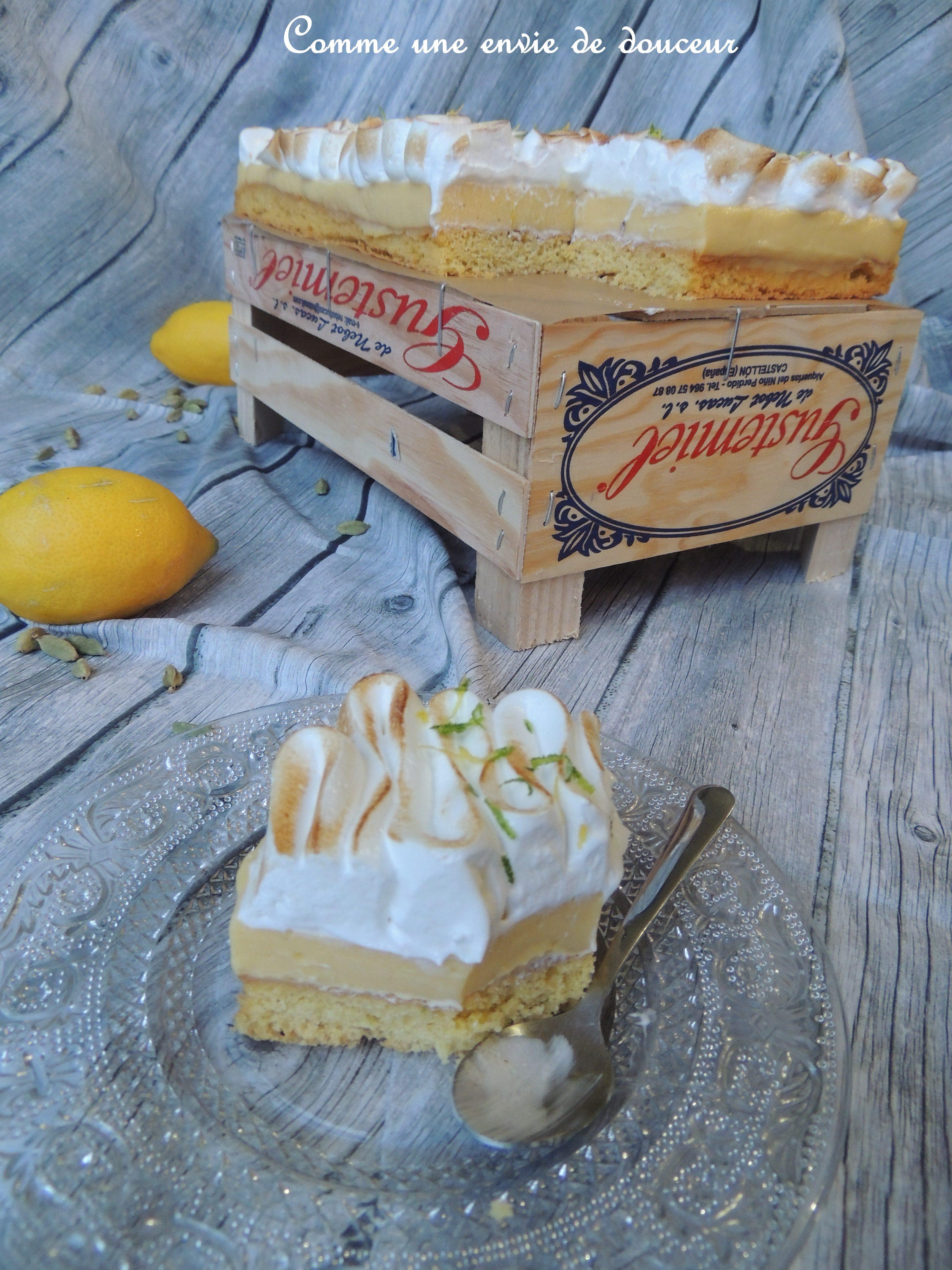 Tarte au citron & cardamome meringuée