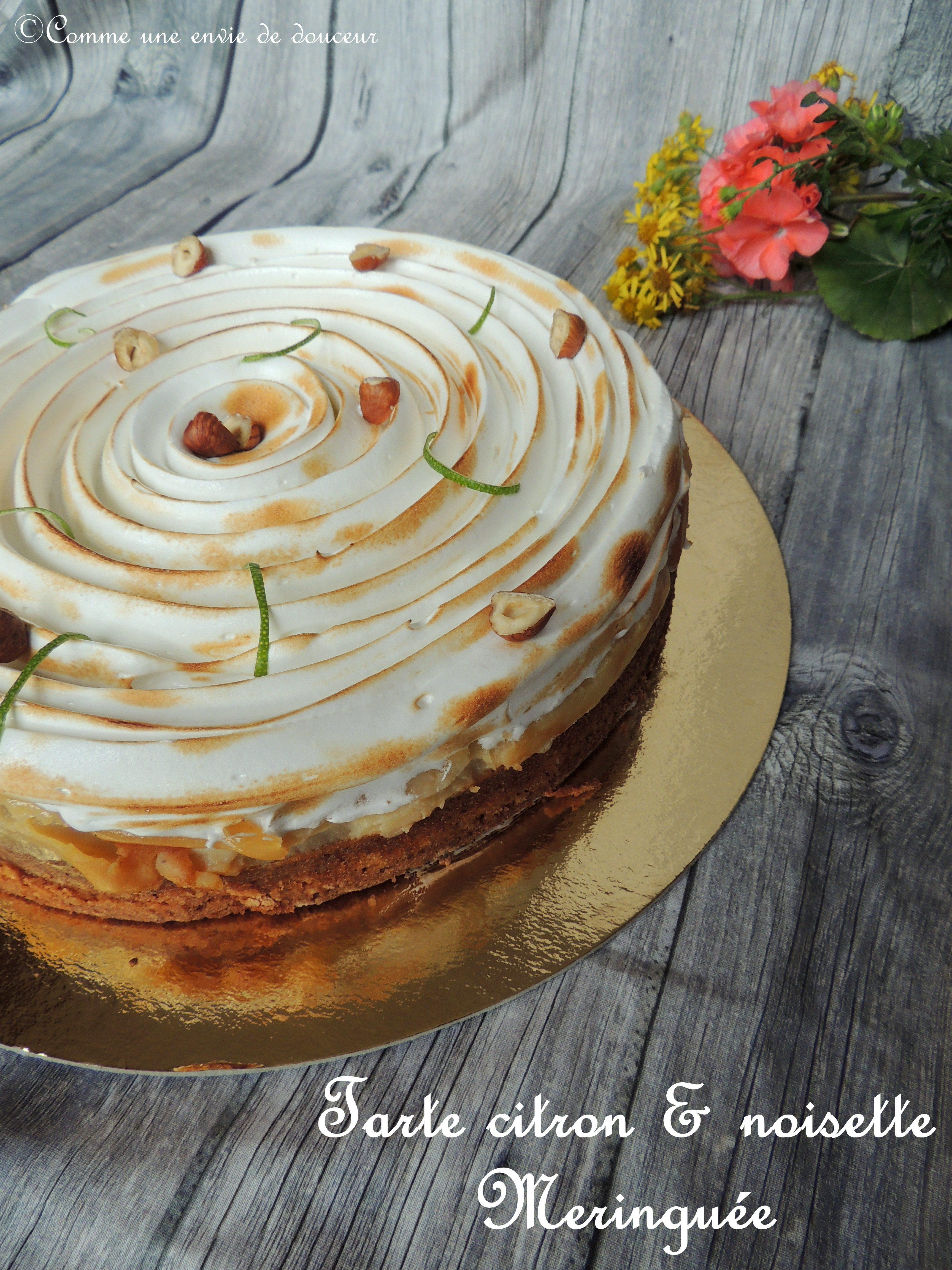 Tarte citron & noisette meringuée - Lemon & hazelnut meringe pie