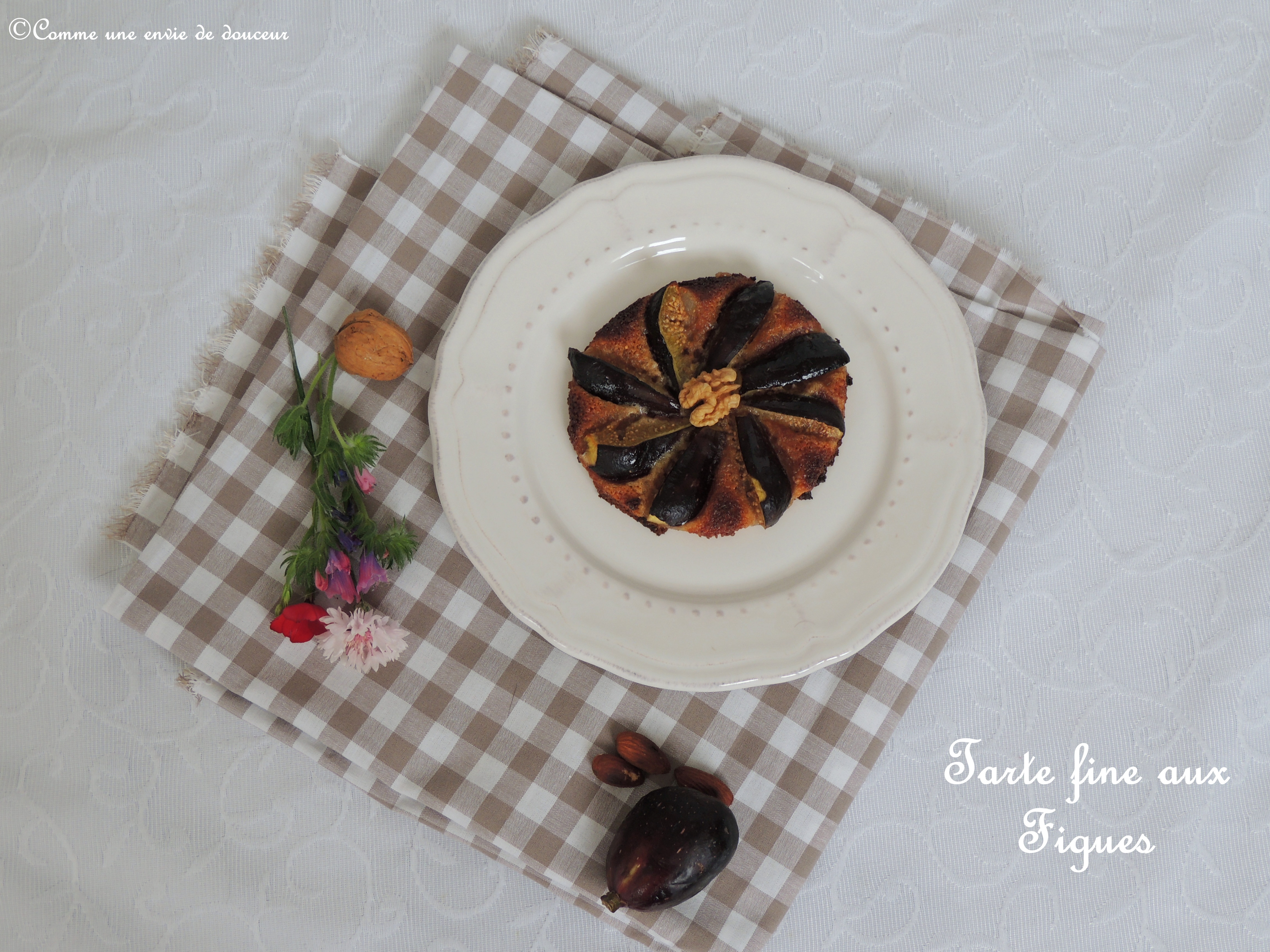 Tartes fines aux figues – Thin fig tartlets
