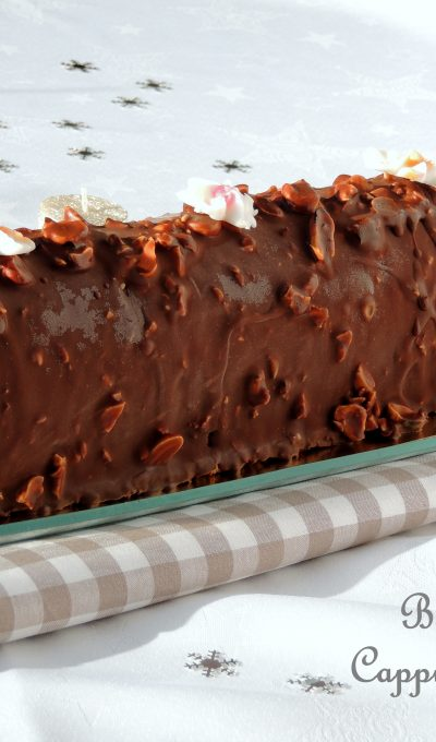 Bûche glacée esquimau café caramel – Iced log chocolate glaze, coffee & caramel