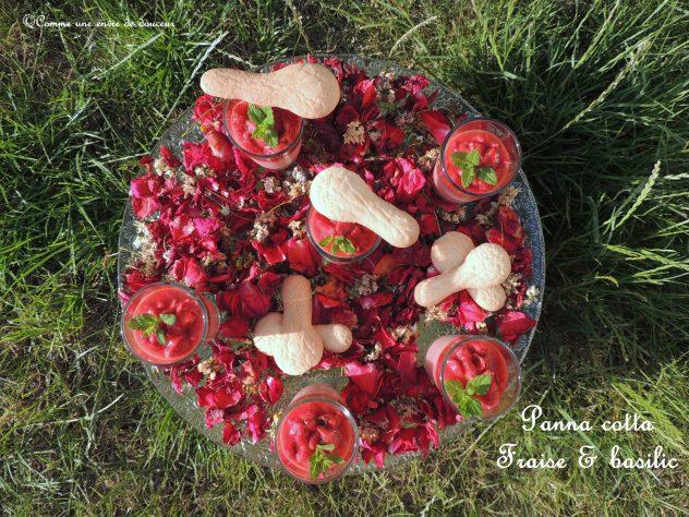 Assez Panna cotta fraise basilic et sa cuillère biscuit – Strawberry  RA12