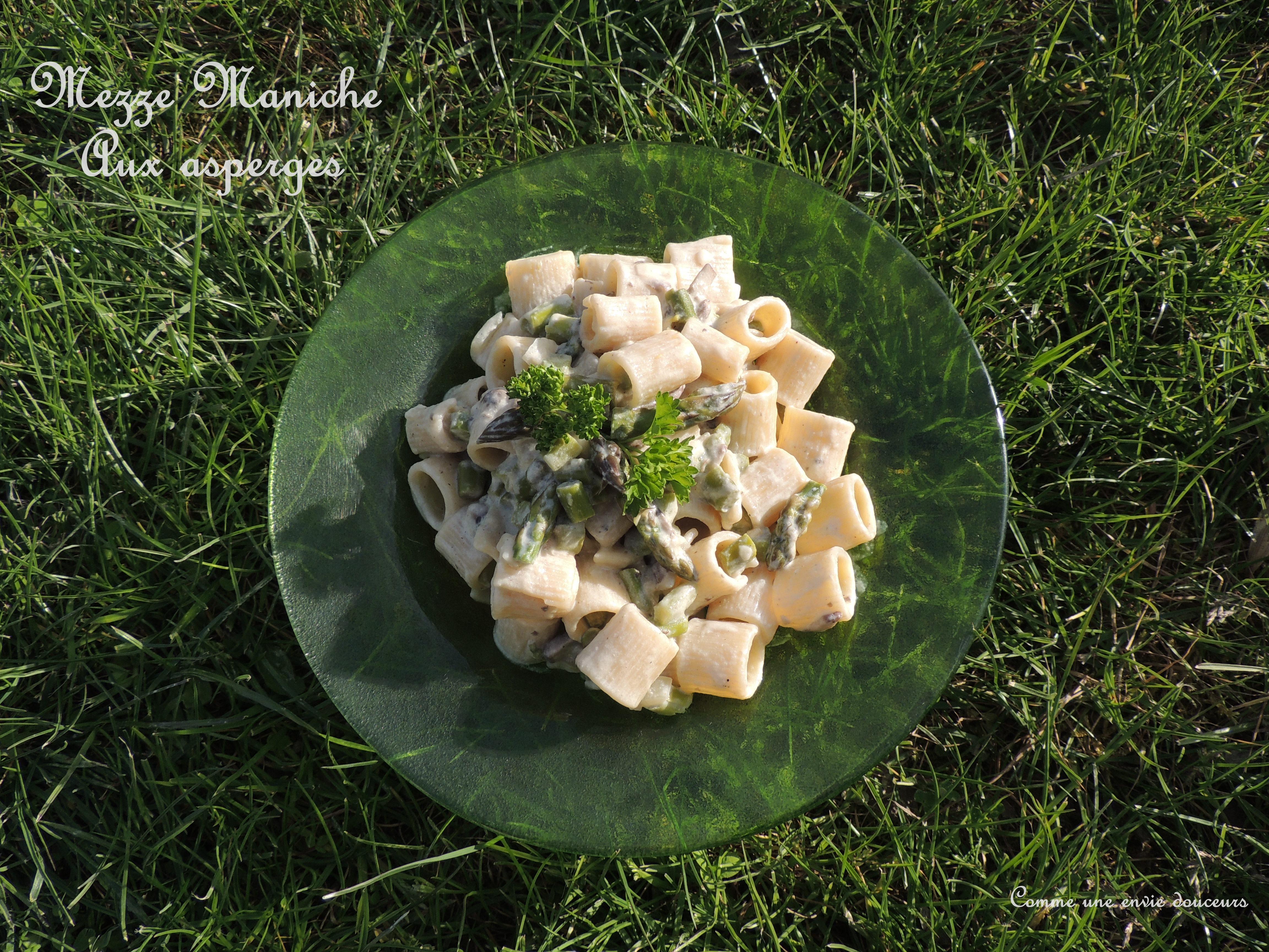 Mezze Maniche aux asperges vertes – Mezze Maniche & green asparagus