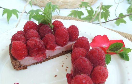Tartelettes panna cotta framboise – Raspberry panna cotta pies