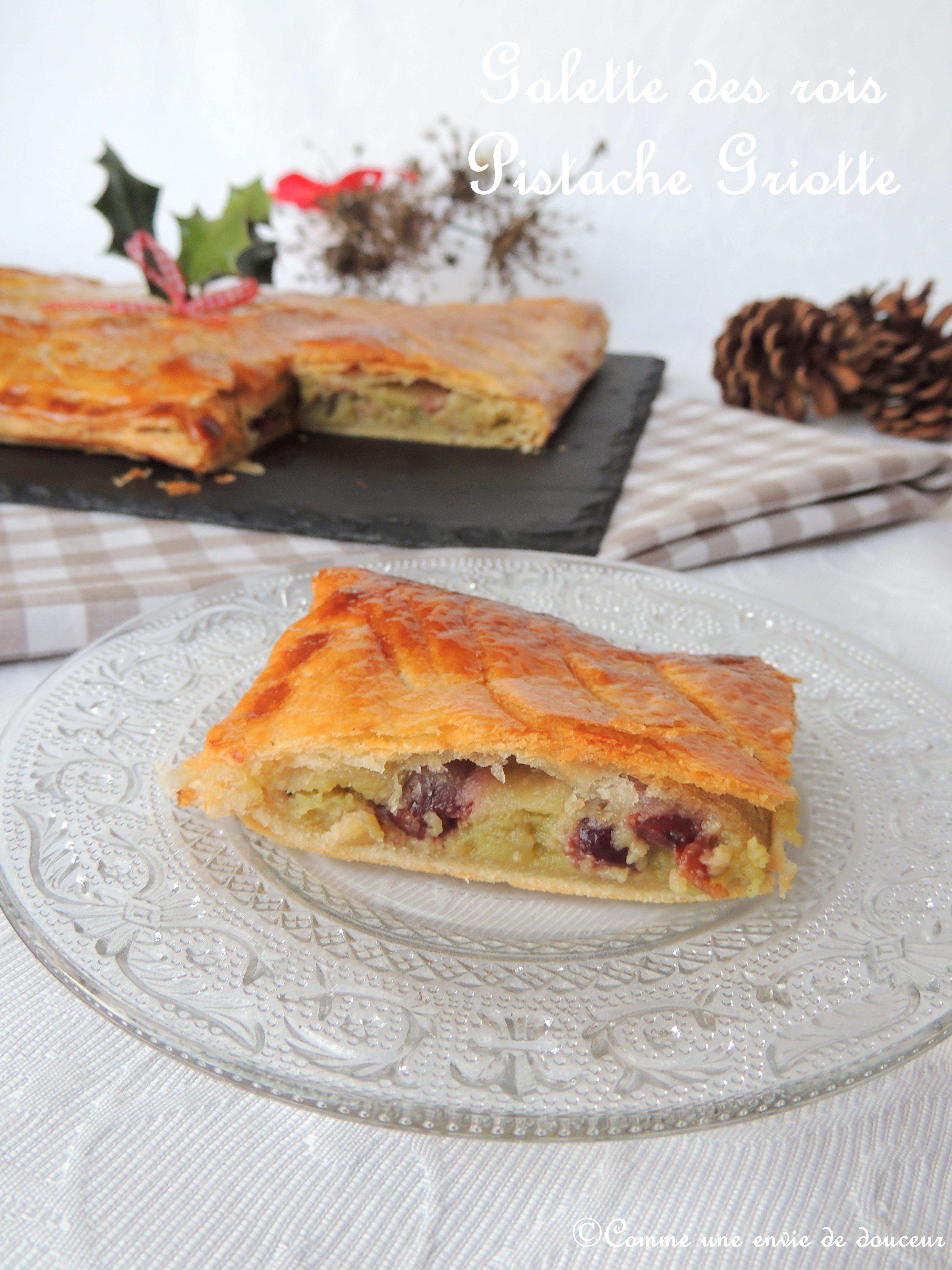 Galette des rois pistache griotte – Pistachio & cherry king's cake