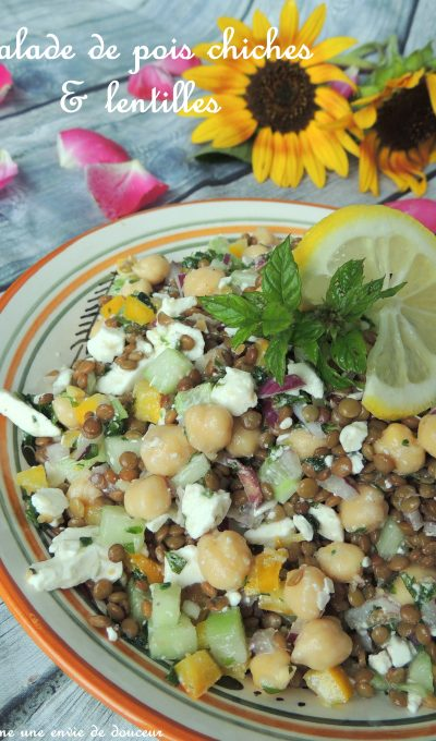 Salade de pois chiche & lentilles – Chick peas & lentils salad