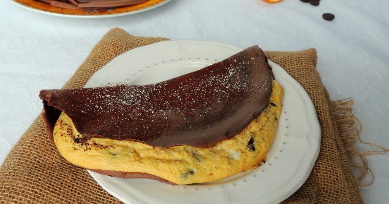 Crêpes soufflées gourmandes, orange & chocolat – Puffed crepes,orange & chocolate