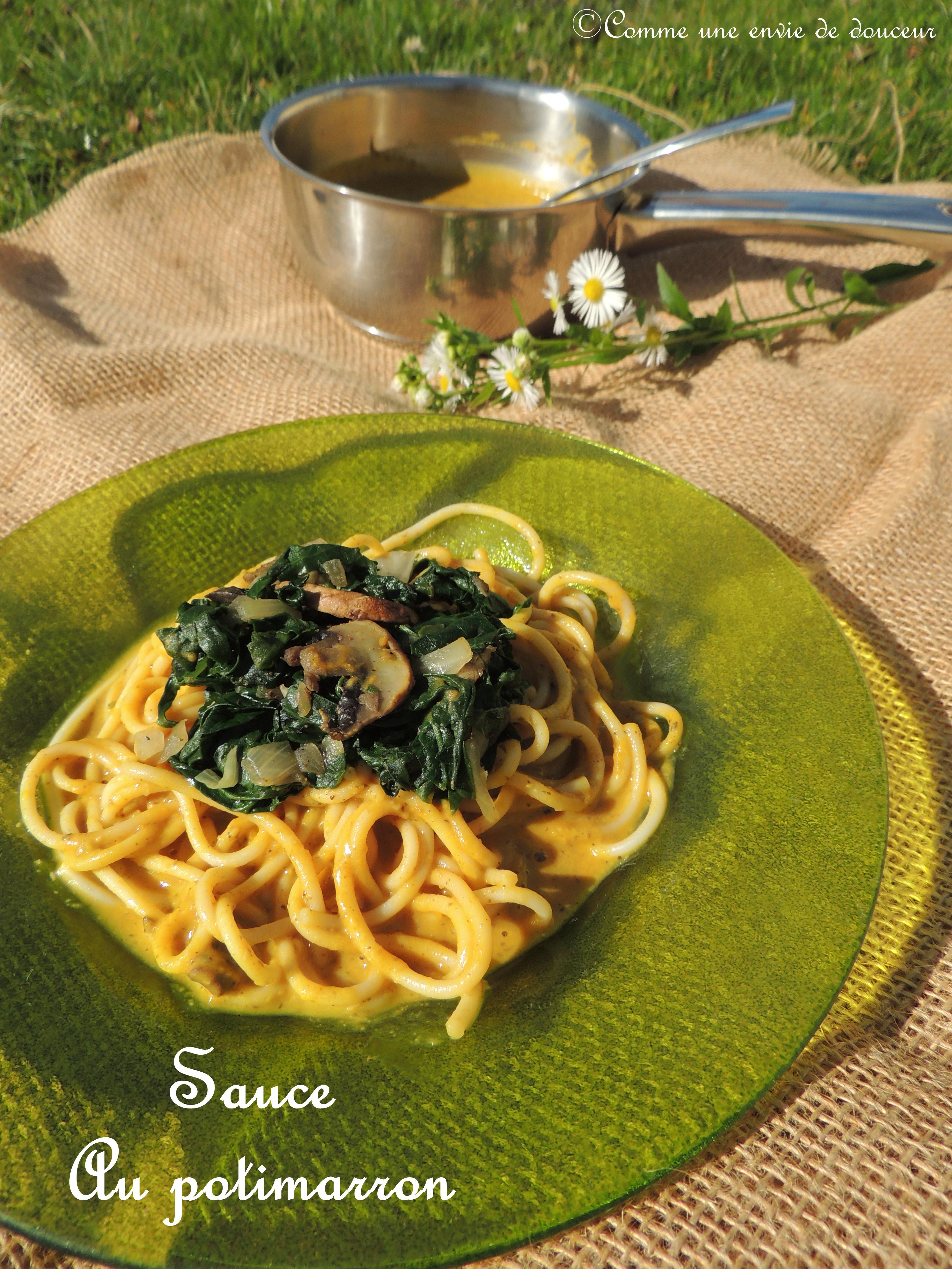 Sauce pour pâtes au potimarron & à la sauge – Butternut & sage pasta sauce