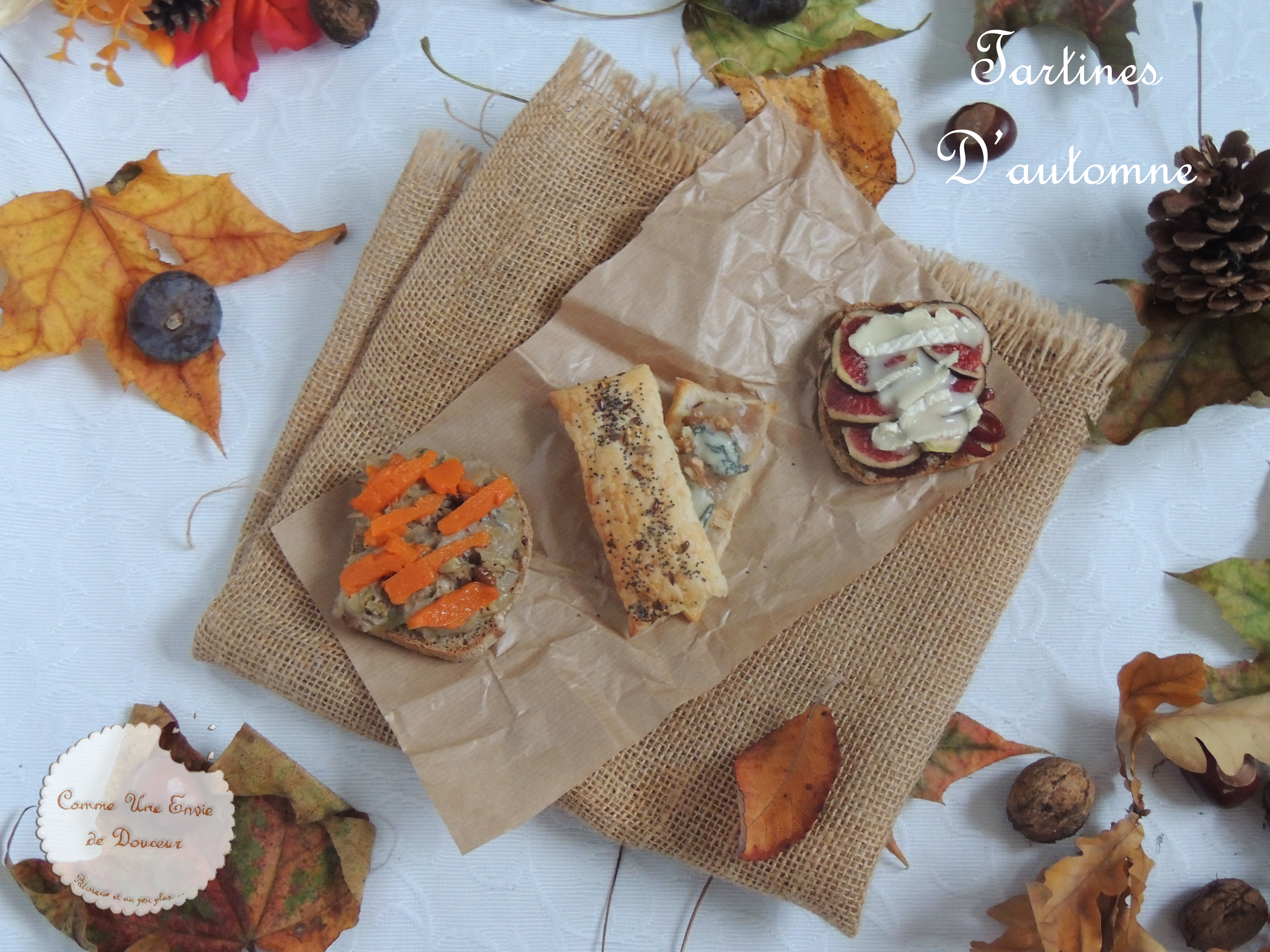 Foodista Challenge #34 Trio de tartines automnales – Fall's flavors toasts