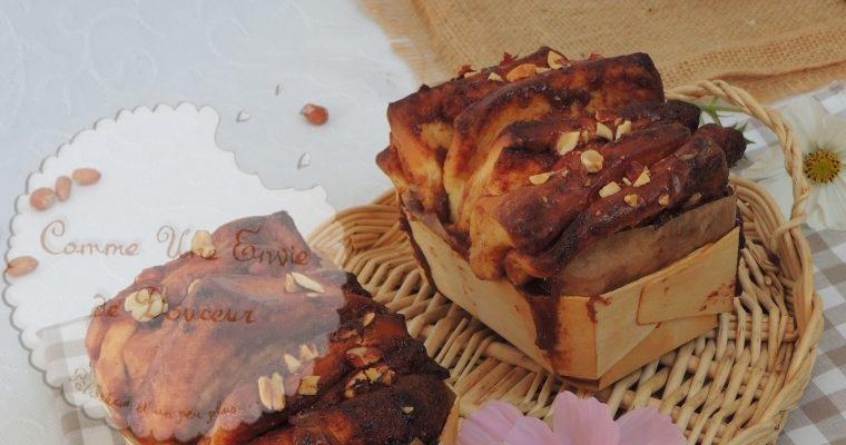 Brioche à effeuiller caramel & cacahuète – Peanut & caramel brioche