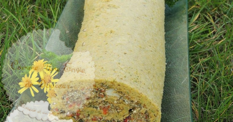 Roulé oseille poivron – Roll cake sorrel & pepper