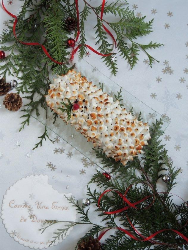 bûche meringuée framboise chocolat blanc