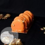 Bûche Passionette - Xmas log passion fruit & hazelnut passion noisette chocolat