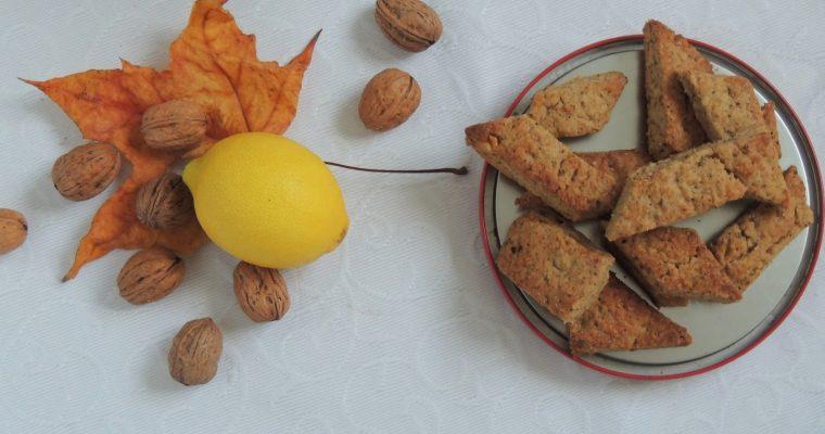 Canistrelli, biscuits croquants aux noix, citron & orange – Crunchy walnut's & lemon biscuits