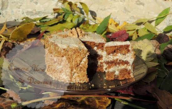 Cake douceur de noix & café ~ Walnut & coffee cake
