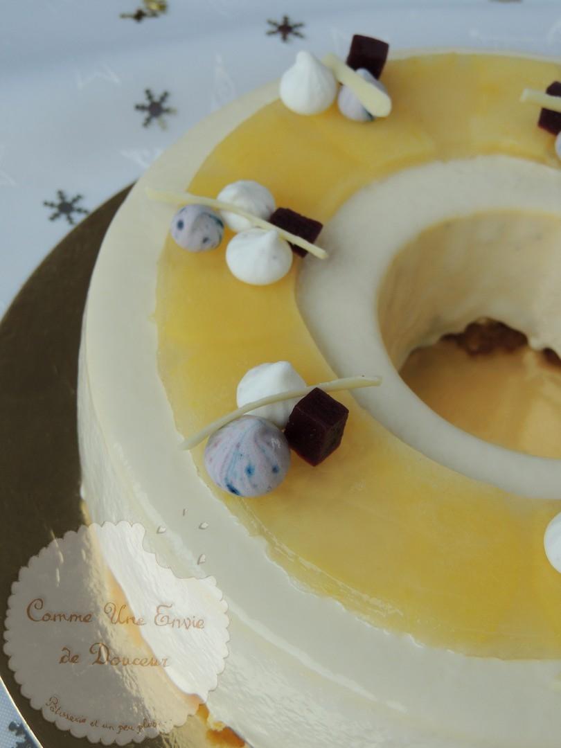 Entremets vanille cassis verveine
