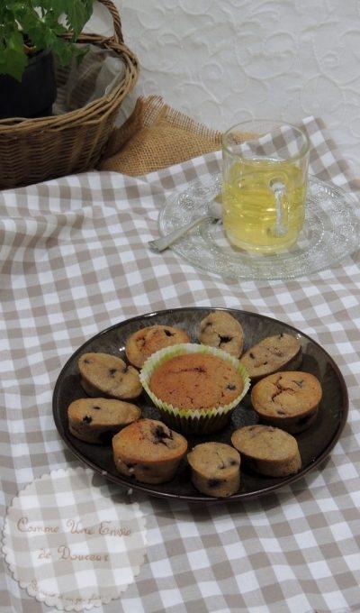 Minis fondants marron & myrtille ~Mini chestnut & blueberry cake