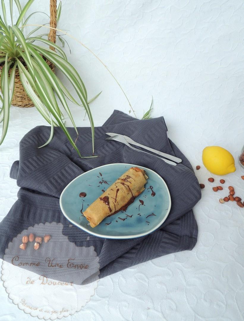 Crêpes frangipane clémentine noisette