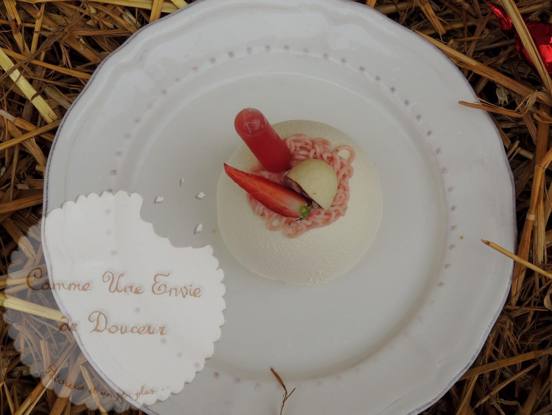 L'entremets printanier ~ Citron vert, verveine & fraise