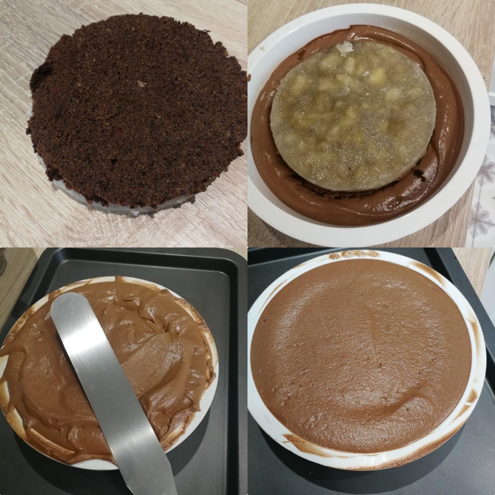 entremets poire chocolat tonka