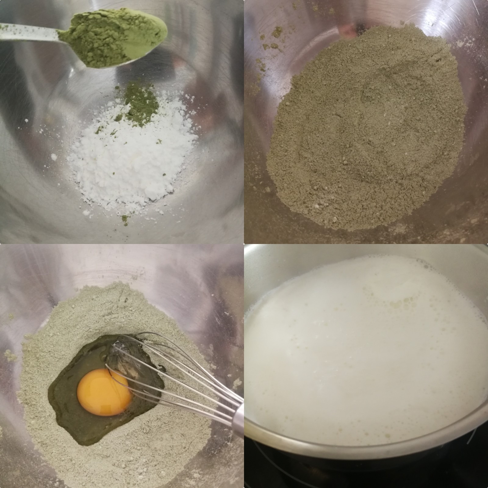 creme pâtissière matcha
