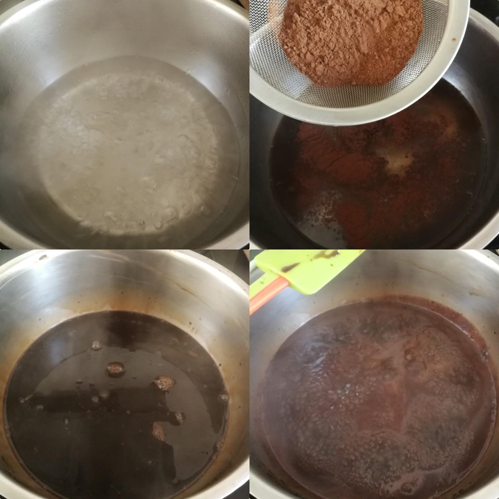 Glaçage miroir cacao