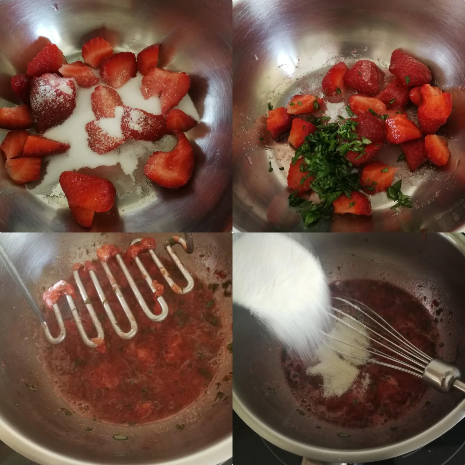 confit fraise basilic