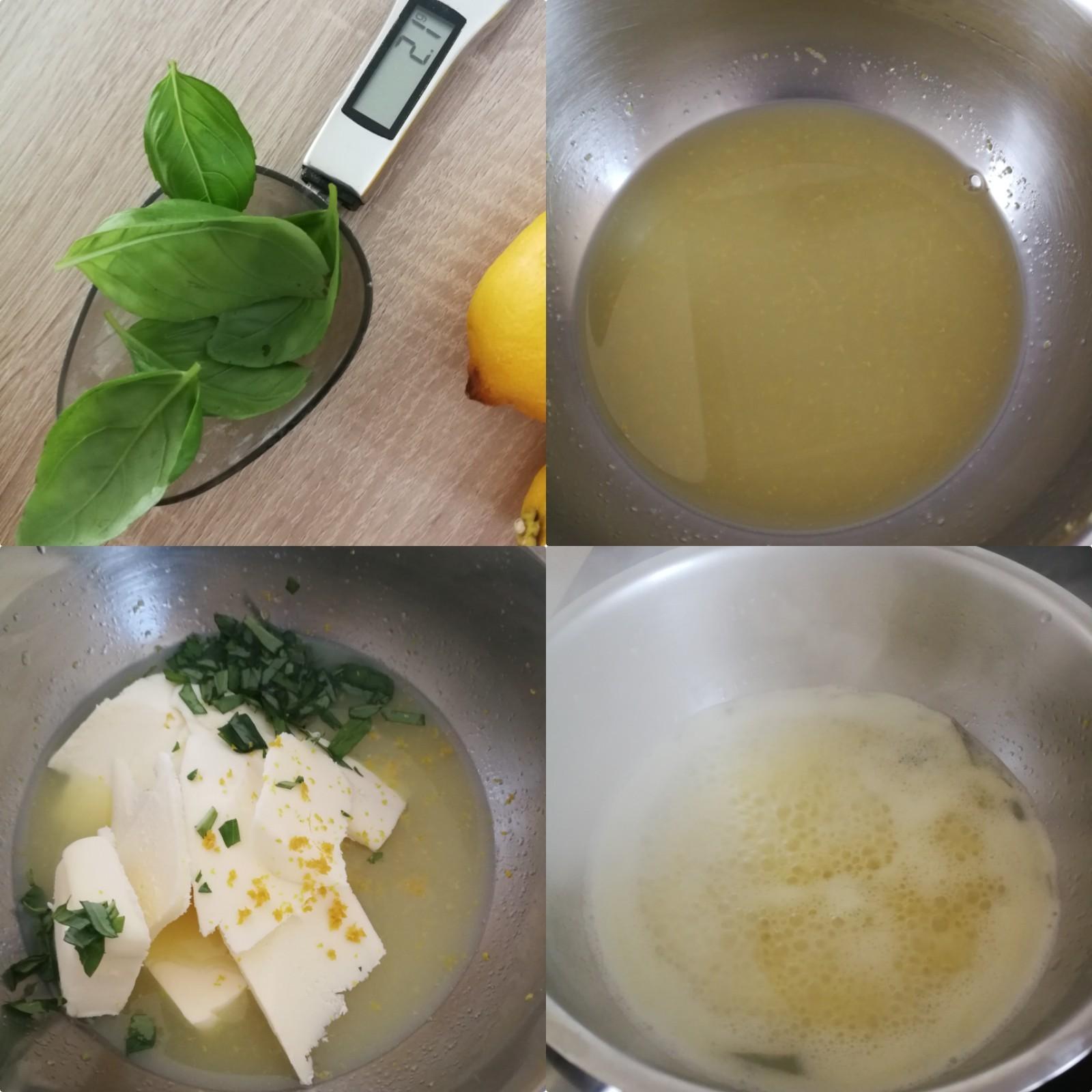 Crémeux citron basilic
