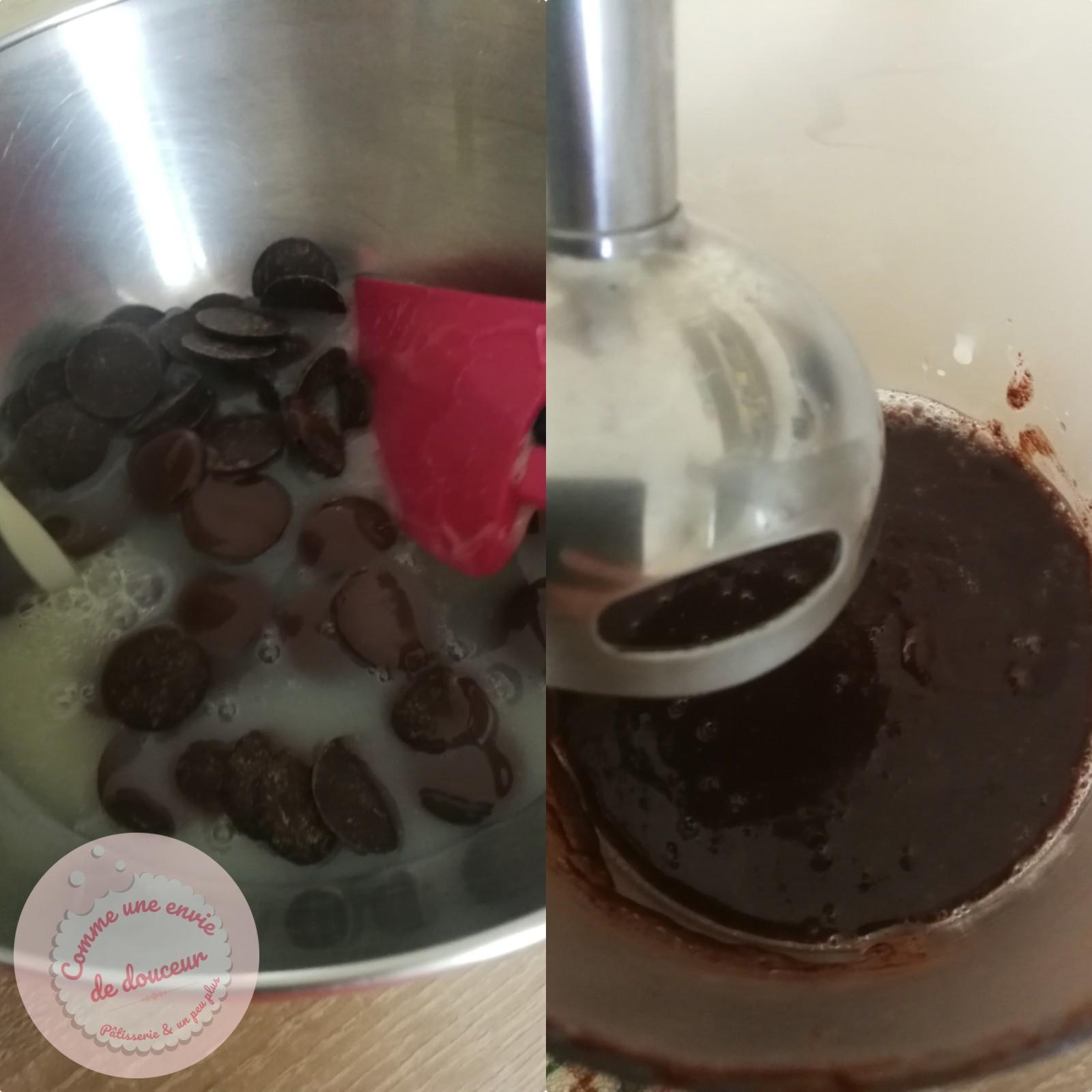 glacage miroir chocolat noir