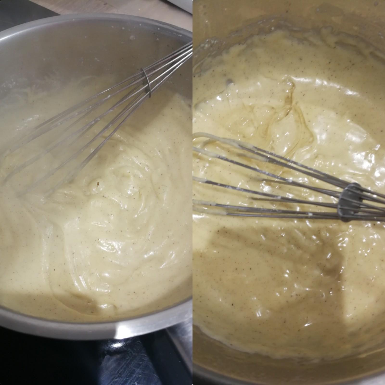 Pour la crème diplomate à infusée la feuille de figuier