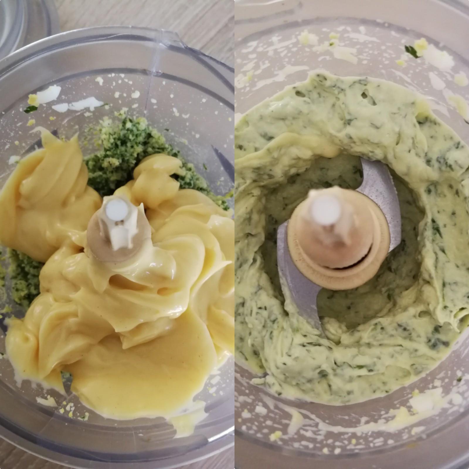 asperges panées crème aux oeufs