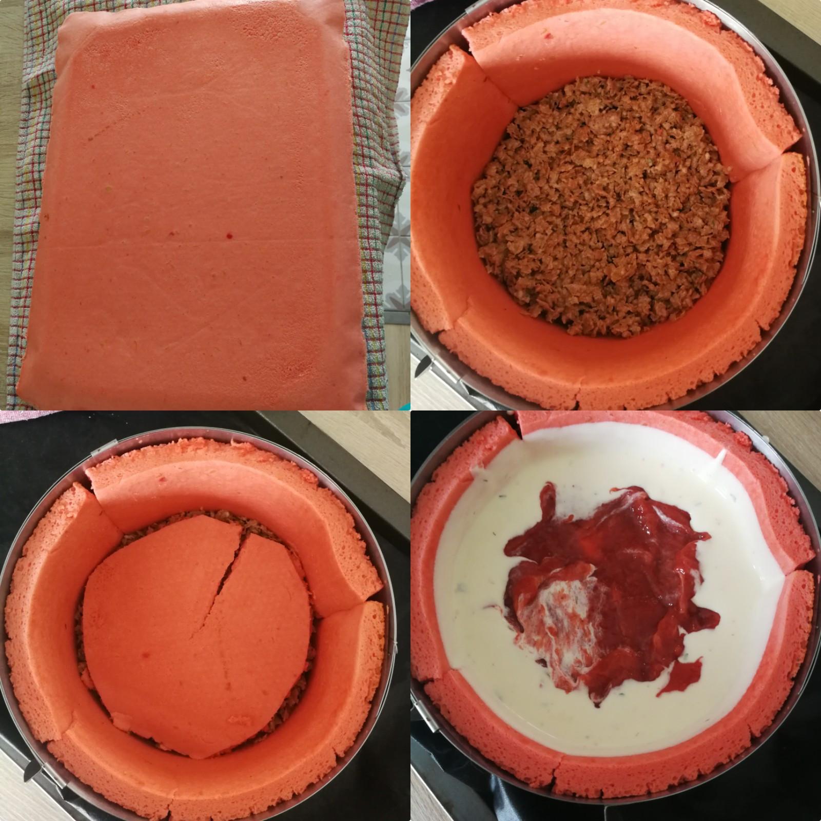 charlotte fraise rhubarbe