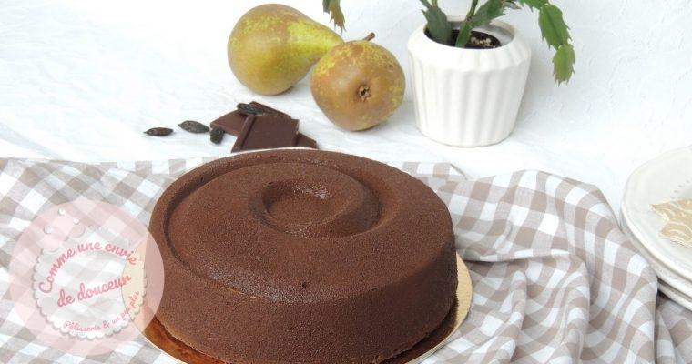 Entremets Chocolat Poire  & Fève Tonka