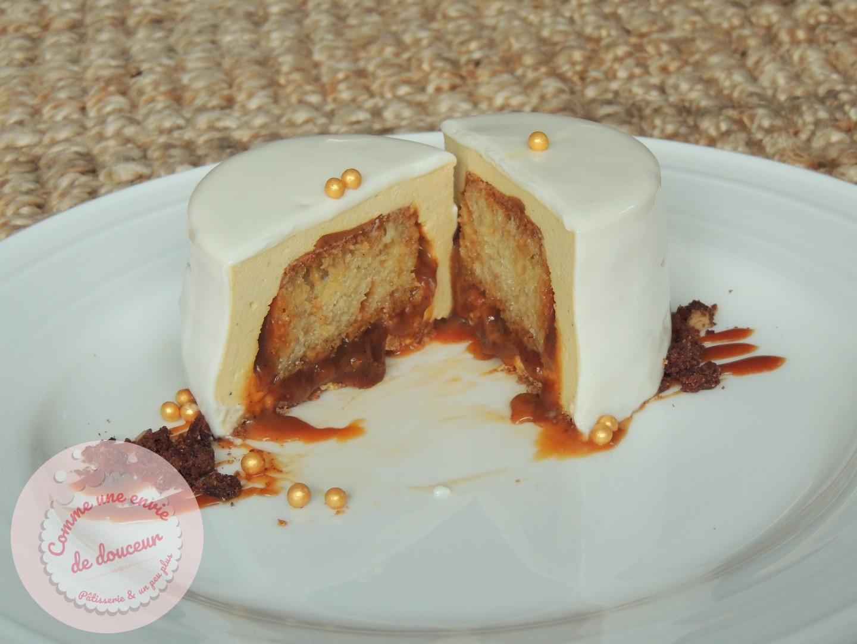 Entremets surprise ~ Baba au rhum, Vanille, Caramel beurre salé