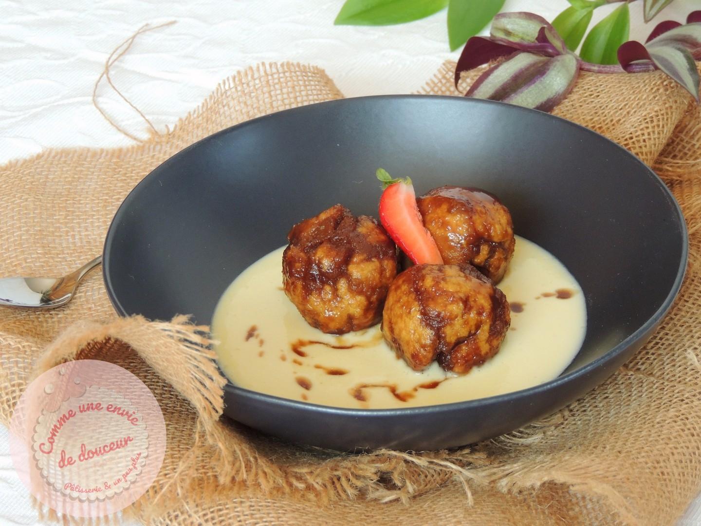 Coconut & chocolate dumplings ~ Boulettes sucrées