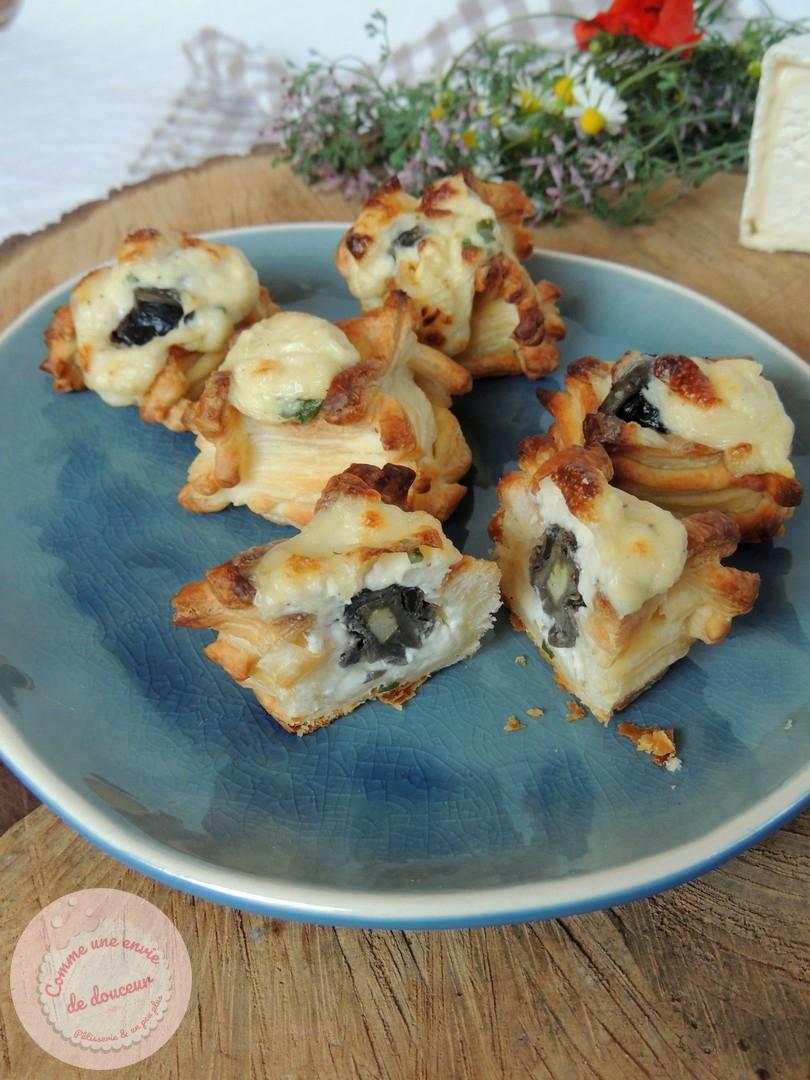 Bouchées feuilletées au chaource & escargot ~ Bataille Food #79