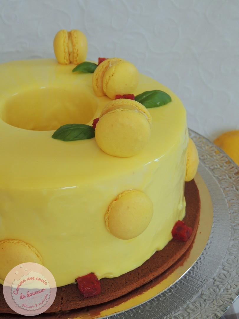 L'entremets ensoleillé ~ Citron, basilic & fraise